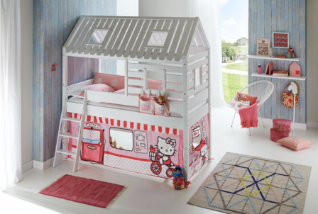 Hello Kitty : Meuble, Décoration Et Accessoires Pour Chambre Du0027enfant. Lit  Hello Kitty Pas Cher Et Original, Le Lit Voiture Carrosse Hello Kitty Pour  Fille ...