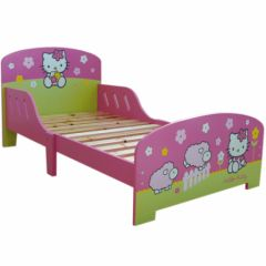 lit enfant hello kitty, lit fille en 140 hello kitty, lit hello kitty 1 place pour fille