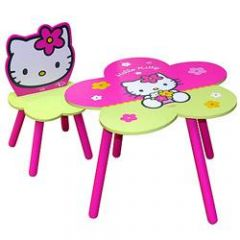 Chambre complete pour fille meubles d corations - Table chaise hello kitty ...