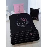meuble table moderne linge de lit bicolore. Black Bedroom Furniture Sets. Home Design Ideas