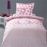 d coration hello kitty pour chambre d 39 enfant linge de lit housse de couette hello kitty d corer. Black Bedroom Furniture Sets. Home Design Ideas