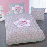 D coration hello kitty pour chambre d 39 enfant linge de for Housse de couette rose et gris
