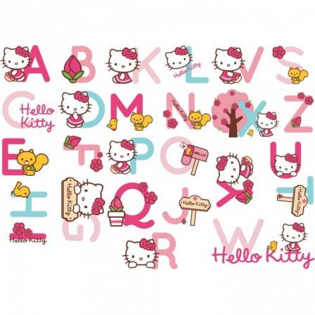 Meubles et accessoires decoration hello kitty le canap for Stickers chambre fille pas cher