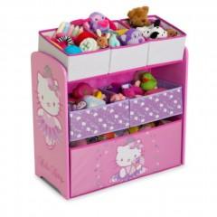 Coffre roulettes pour enfants hello kitty accessoires - Casier rangement chambre fille ...