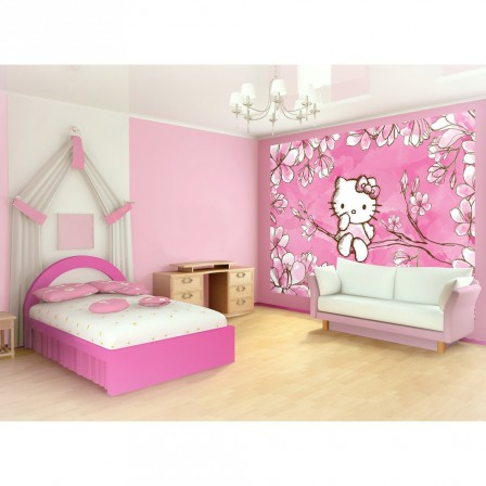 d corer pour chambre d 39 enfant hello kitty etag re pour. Black Bedroom Furniture Sets. Home Design Ideas