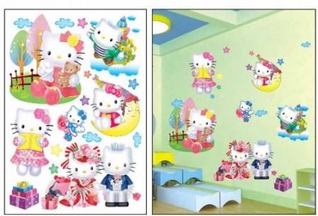 D corer une chambre d 39 enfant avec des accessoires et du petit mobilier hello kitty chambre d - Decoration hello kitty pour chambre bebe ...