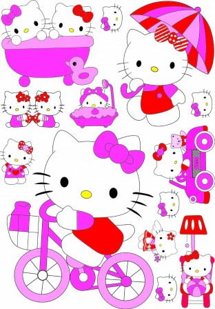 stickers grand modèle hello kitty pas cher facile à poser decoration murale sticker hello kitty pour chambre de petite fille.jpg