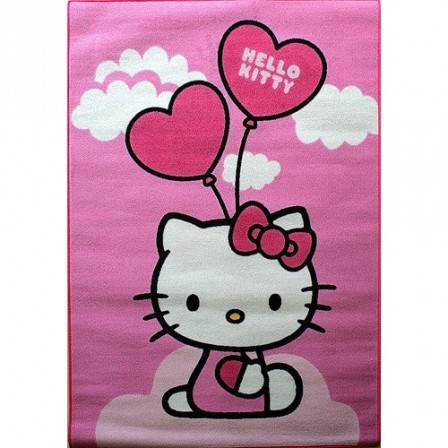 Tapis Pas Cher Hello Kitty Rose Avec Ballon Tapis Rectangulaire Sol Chambre  Fille Fan Hello Kitty