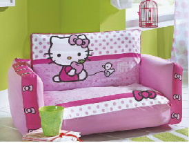 top canape hello kitty canape couchage lit gonflable hello kitty pas cher original chambre fille. Black Bedroom Furniture Sets. Home Design Ideas