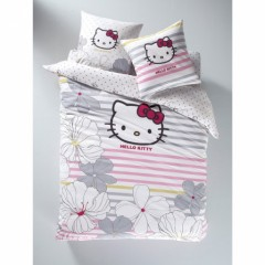 housse de couette hello kitty 140 x 200 200 x 200 220 x. Black Bedroom Furniture Sets. Home Design Ideas