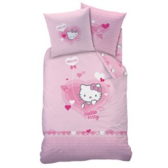housse de couette hello kitty 140 x 200 200 x 200 220 x 240 housse parure linge de lit. Black Bedroom Furniture Sets. Home Design Ideas