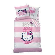 Housse de couette hello kitty fille rose et blanche avec - Housse de couette hello kitty 220x240 ...