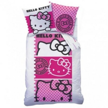 Lit hello kitty pas cher excellent lit hello kitty with - Housse de couette hello kitty personne ...