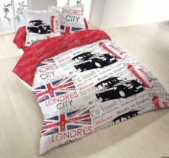 Housse de couette londres london linge de lit londres for Deco jeune adulte