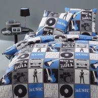 Linge de lit pour adolescent ou junior la housse de for Housse de couette bleu et gris