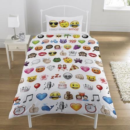 linge de lit pour adolescent ou junior la housse de couette smiley pour se reveiller de bonne. Black Bedroom Furniture Sets. Home Design Ideas
