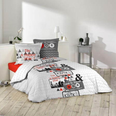 housse de couette ado adolescent linge de lit housse. Black Bedroom Furniture Sets. Home Design Ideas