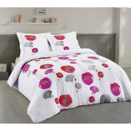 couette rose et grise latest housse de couette x cm bicolore drageegris souris taies d with. Black Bedroom Furniture Sets. Home Design Ideas