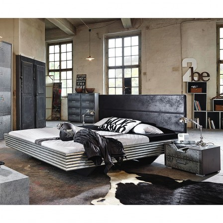 Deco industrielle chambre ado for Lit moderne 2017