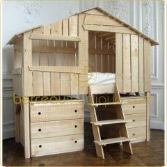 Lit cabane enfant lit cabane en bois pour enfant pour am nager une chambre - Customiser un lit en bois ...