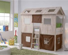 Lit cabane pour chambre d 39 enfant id e d 39 am nagement et de gain de place dans une chambre d - Chambre princesse fly ...