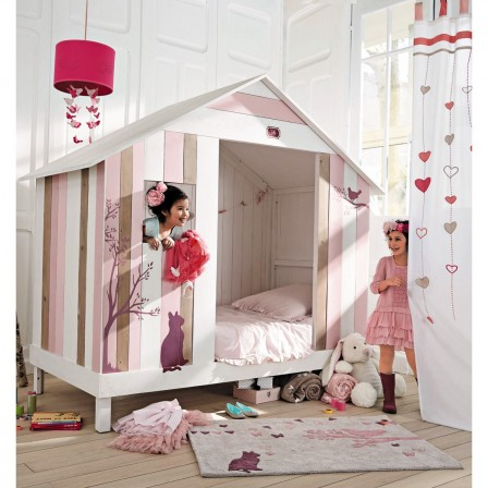 lit cabane enfant lit surelev pour fille et gar on lit cabane enfant 5 ans 6 ans 7 ans 8. Black Bedroom Furniture Sets. Home Design Ideas
