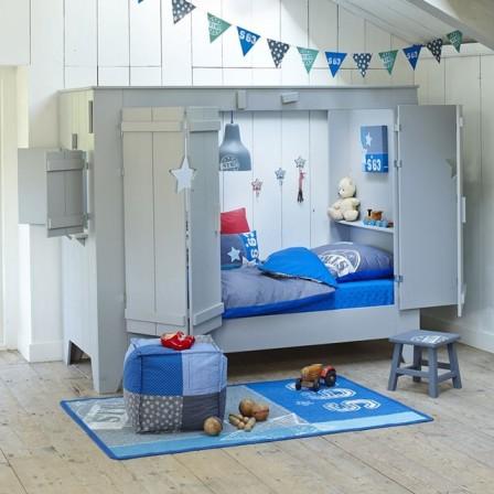 98c12af9d2d88d lit cabane avec volets en bois couchage 1 personne.jpg.  voir ce produit.gif. LIt cabane en forme de maison pour les enfants