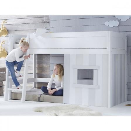 soldes et promotion sur le lit cabane pour chambre d 39 enfant avec rangement id e gain de place. Black Bedroom Furniture Sets. Home Design Ideas