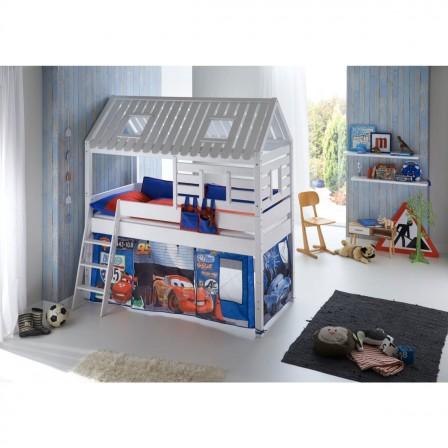 lit cabane enfant lit surelev pour fille et gar on lit cabane enfant 5 ans 6 ans 7 ans 8. Black Bedroom Furniture Sets. Home Design Ideas