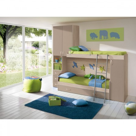 meuble chambre d 39 enfant lit combin en pin pour enfants. Black Bedroom Furniture Sets. Home Design Ideas