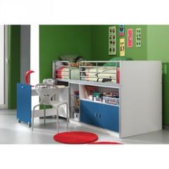 Lit combine enfant lit surelev lit compact lit mezzanie enfant junior ado lit pour petit - Tiener mezzanine ...