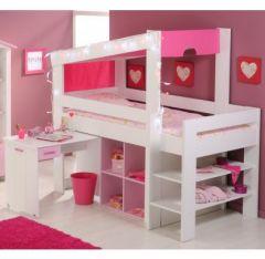 lit combine enfant, lit surelevé, lit compact, lit mezzanie enfant ...