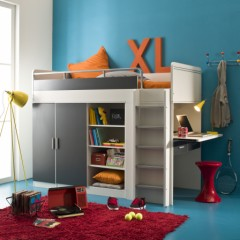lit combine enfant lit surelev lit compact lit mezzanie enfant junior ado lit pour petit. Black Bedroom Furniture Sets. Home Design Ideas