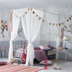 lit baldaquin pour fille à partir de 3 ans lit fille en fer forgé avec rideaux pour faire un lit de princesse