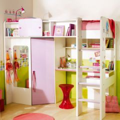 1000 ideas about lit mezzanine fille on pinterest bureau meuble lampe halog ne and lit mezzanine for Chambre de petite fille