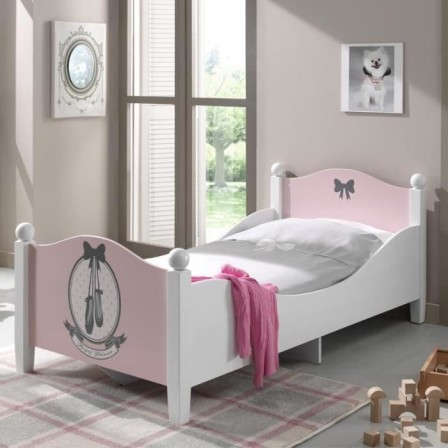 lit fille cdiscount good pittoresque lit bebe fille decoration chambre bebe fille princesse. Black Bedroom Furniture Sets. Home Design Ideas