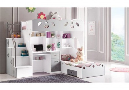 meuble pour chambre de fille lit combin pour chambre de. Black Bedroom Furniture Sets. Home Design Ideas