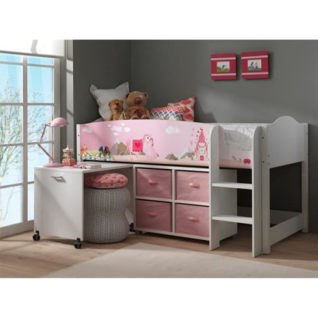 lit avec rangement fille. Black Bedroom Furniture Sets. Home Design Ideas