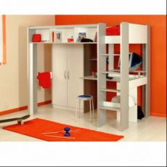 Mezzanine lit mezzanine enfant lit mezzanine junior et for Bureau 2 places face a face