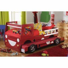 un lit gigogne camion de pompier id e pour ameubler la chambre d 39 un gar on d corer. Black Bedroom Furniture Sets. Home Design Ideas