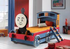 lit train pour enfant lit original garcon 4 ans 5 ans 6 ans - Chambre Garcon 2 Ans