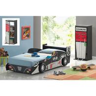 Lit voiture enfant lits pour enfant en forme de voiture de course meubles mobilier chambre for Chambre garcon voiture de course