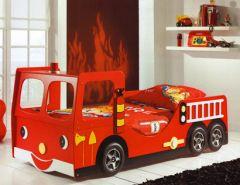 Un lit gigogne camion de pompier id e pour ameubler la - Chambre garcon pompier ...