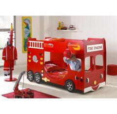 Un lit gigogne camion de pompier id e pour ameubler la chambre d 39 un gar - Lit pour deux enfants ...