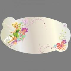 miroir ovale de la fée clochette deco murale originale pour chambre de fille decoration murale pas cher miroir en acrylique incassable facile à poser et leger.png