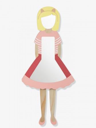 Miroir En Bois Représentant Une Petite Fille, Hauteur 100 Cm à Fixer Au  Mur. Miroir Decoratif Pour Chambre De Petite Fille