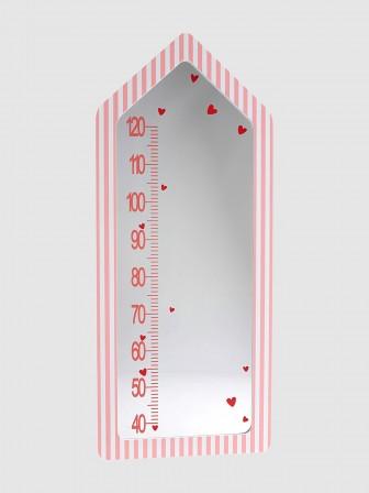 Bon Jolie Miroir Toise Pour Décorer La Chambre Du0027une Petite Fille. Toise Murale  Avec Miroir Pour Chambre De Fille, Décoration Rose à Rayure. Dimension :  Haut.