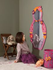 Miroir porte manteau pour décorer une chambre de fille - Un max d\'idées