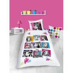 housse de couette monster high pas cher lit enfant 140 x. Black Bedroom Furniture Sets. Home Design Ideas