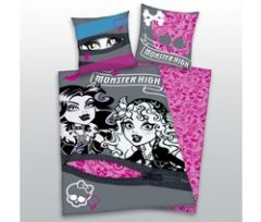housse de couette monster high pas cher lit enfant 140 x 200 linge de lit monsters high pour. Black Bedroom Furniture Sets. Home Design Ideas